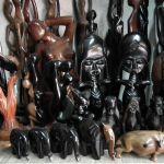 Petites sculptures fait de de bois