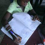 Langues nationales : initiation au tuki (saananga) atelier d'écriture des chiffres et nombres, copie.